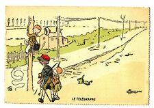 CPA Fantaisie Le Télégraphe Illustrateur G.Maréchaux postcard fantasy