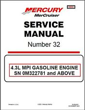 01-16 MerCruiser # 32 Sterndrive 4.3L (262) MPI Marine Engines Service Manual CD