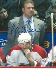 MICHEL THERRIEN signed MONTREAL CANADIENS 8X10 PHOTO COA