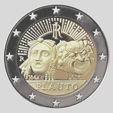 Italia 2016 2 Euro Comm 2200th Anuncio de la the Death de Tito Maccio Plauto UNC