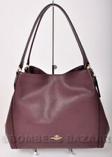 ❤️NWT AUTH COACH EDIE 31 LEATHER SHOULDER BAG TOTE OXBLOOD 36464❤️