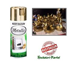 Shiny Metallic Gold Spray Paint Lacquer Fast-dry Rustoleum Can Painting 11Oz