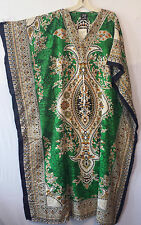 New Women Caftan Kaftan Maxi Dress African Dashiki Hippie Boho Plus Size Green