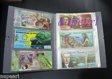 34Pages 204pockets New Paper Money Album Holders Banknotes Collections Album