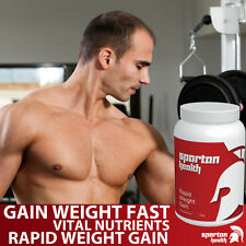 SPARTAN HEALTH WEIGHT GAIN POWDER GET BIG INCREASE SIZE HIGH CALORIE PROVEN