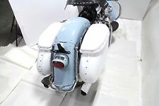 1958-1984 Harley Davidson Panhead Shovelhead Replica Bubble Saddlebag Set White