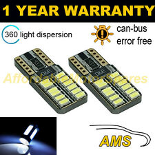 2X W5W T10 501 CANBUS ERROR FREE WHITE 24 SMD LED SIDELIGHT BULBS SL103805