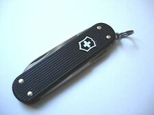 Victorinox Black Ribbed Alox Swiss Army Knife