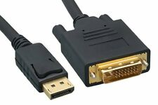New 6FT 1.8M Displayport DP Male To DVI-D Male Adapter Cable Core Black US
