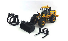 MOTORART 15823 JCB 456 WHEELED LOADER WITH 3 ATTACHMENTS 1:50 SCALE