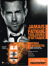 PUBLICITE ADVERTISING 045  2014  L'OREAL MEN EXPERT  avec  RYAN REYNOLDS