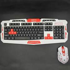 NEW Optical Wireless Keyboard and Mouse Keyboard Colour HK8100 White + Red