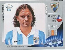 N°219 MANUEL ITURRA # CHILE MALAGA.CF CHAMPIONS LEAGUE 2013 STICKER PANINI