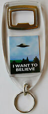 The X- Files I want To Believe Bottle Opener Keyring