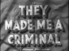 THEY MADE ME A CRIMINAL, 1939, JOHN GARFIELD crime classic - DVD-R: Region 2