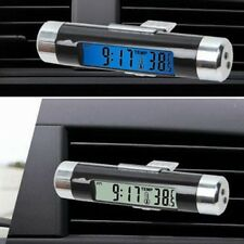 Car Auto Air Vent Digital Clock Thermometer Celsius Digital Blue LED Backlight