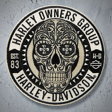 Genuine HARLEY DAVIDSON 4 inch HOG EMBROIDERED PATCH NEW SUGAR SKULL