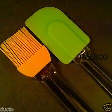 TIGERGO   SILICONE BRUSH & SPATULA   Kitchen & BBQ Tool   Apply Oil Butter  2 PC