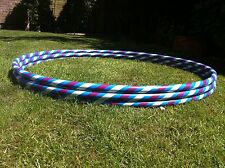 "ADULT 38"" PURPLE & WHITE HULA HOOP+ HOOLA TEACHING EBOOK"