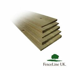 10 Pack 1.2m 4ft Treated Feather Edge Garden Fencing Boards 150mm 6 inch