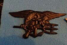 NAVY SPECIAL WARFARE (SEAL)PIN,BADGE,BLACK SUBDUED,QUALIFICATION PIN, LARGE SIZE