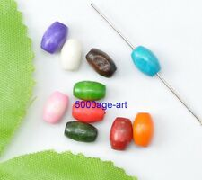 300pcs Mixed color Charms Wood Oval Loose Spacer Beads DIY Findings 5x8mm