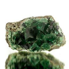 """4"""" ColorDrenched BlueGreenCubic FLUORITE Glassy Gem Crystals Rogerly UK for sale"""