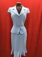 TAHARI BY ARTHUR LEVINE SKIRT SUIT/LIGHT BLUE/SIZE 14/RETAIL$280/LINED/NEW W TAG