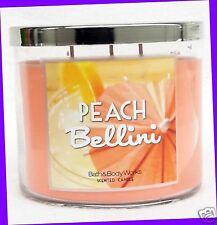1 Bath & Body Works PEACH BELLINI 3-Wick Large Candles 14.5 oz Jar