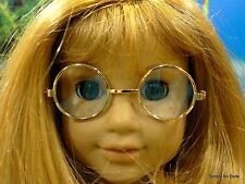"""GOLD Wire Rimmed DOLL EYE GLASSES fits 18"""" AMERICAN GIRL Doll Clothes"""