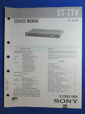 SONY ST-7TV TV TUNER SERVICE MANUAL FACTORY ORIGINAL