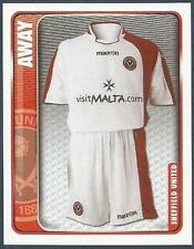 PANINI CHAMPIONSHIP 2010- #314-SHEFFIELD UNITED-AWAY KIT