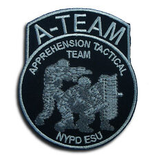 A Team NYPD ESU Police Military Army Patch  Iron On Vest Harley Biker Chopper