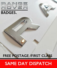 Range Rover Badge Lettering Boot Bonnet chrome letters Sport Vogue P38 Evoque