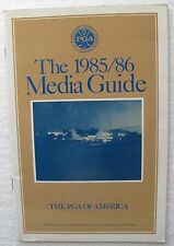 """1985/86 """"The PGA of America Golf Media Guide"""" with World Golf Hall of Fame Lisr"""