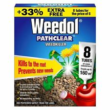 Weedol Pathclear Weedkiller Liquid Concentrate-Weed Killer 6pk +2 Free Tubes!!