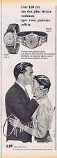 PUBLICITE ADVERTISING 015 1955 LIP montres homme ou femme