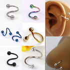 16G Stainless Steel nose lip Eyebrow Flexo Twist Helix Cartilage Ring Earrings