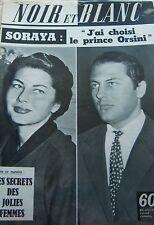 PRINCESSE SORAYA et PRINCE ORSINI en COUVERTURE de NOIR et BLANC No 735 de 1959