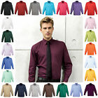 Mens Long Sleeve Shirt Business Work Smart Formal Casual Dress Shirt 24 Colours