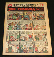 1951 Sunday Mirror Weekly Comic Section February 11th (Fine+) Superman Lil Abner