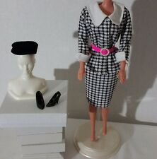 BARBIE SILKSTONE ROYALTY MUSE DOLL CHECKER 2 PC SUIT HAT BELT SHOES ACCESSORIES