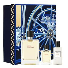 HERMES TERRE D'HERMES GIFT SET 75ML SPRAY EDP + 12, 5 ML + 40ML A/S BALM