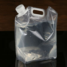 Portable Folding Clear Water Bag Supply 5L Survival Kits Outdoor Hiking Camping