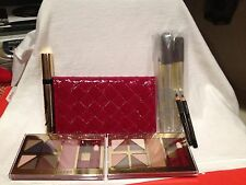 ESTEE LAUDER MAKE UP MASCARA BRUSHES SHADOW BLUSH LINERS CASE 7 PIECES !!