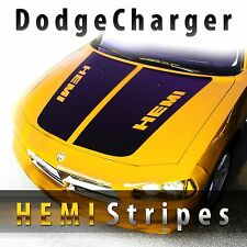 Dodge Charger HEMI Style Hood Stripes Decal Kit Pre cut 2006 2007 2008 2009 2010