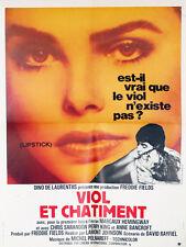 Affiche 60x80cm VIOL ET CHÂTIMENT 1976 Margaux Hemingway, Chris Sarandon TBE