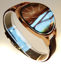 Mothers Day Unique Elegant Curved Ladies Womens Fashion Watch Brown Rose Gold
