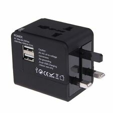 Universal World Travel Adapter Converter With Dual USB Charger Plug