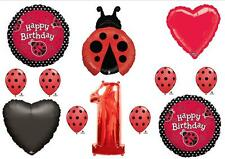 Ladybug 1st First Birthday Balloons Decorations Supplies Favors Girl Polka Dots